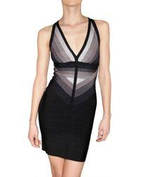 Hervé Léger | Black Gradient Bandage Dress | Lyst