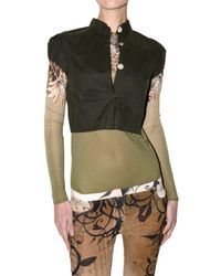 A-lab Milano   Green Short Waxed Jacket   Lyst