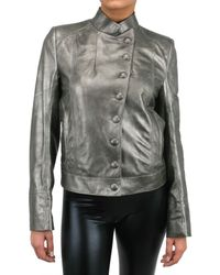 Ann Demeulemeester Blanche | Metallic Leather Jacket | Lyst