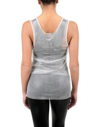 Ann Demeulemeester Blanche - White Embroidered Tulle Tank Top - Lyst