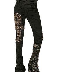 Balmain | Black Embellished Ankh Denim Jeans | Lyst
