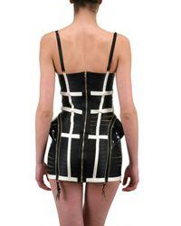 Bordelle | Black Patent Leather Fins Dress | Lyst