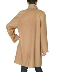 Chloé | Natural Wool and Cashmere Coat | Lyst