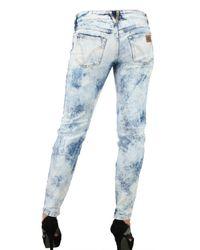 Dolce & Gabbana - Blue Stretch Denim Acid Wash Pretty Jeans - Lyst