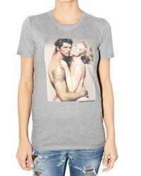 Dolce & Gabbana - Gray Eva Herzigova Print Jersey T-shirt - Lyst