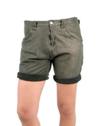 DROMe | Gray Loose Fit Leather Shorts | Lyst
