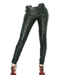 DSquared² | Black Jersey and Patent Leather Leggings | Lyst