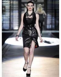 DSquared² | Black Leather Biker Skirt | Lyst