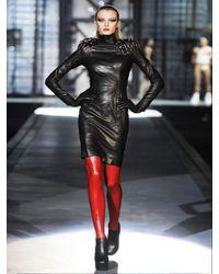 DSquared² - Black Leather Dress - Lyst