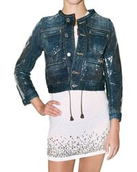 DSquared² | Blue Pvc and Denim Jacket | Lyst