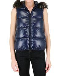 Duvetica | Blue Goccia Fur Vest Down Jacket | Lyst