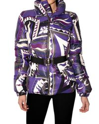 Emilio Pucci | Purple Printed Nylon Down Jacket | Lyst
