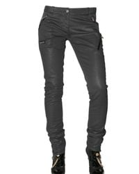 John Galliano | Black Stretch Satin Five Pocket Trousers | Lyst
