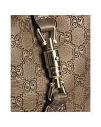 Gucci | Brown Cognac Ssima Leather New Jackie Shoulder Bag | Lyst