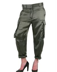 Haider Ackermann   Green Silk Cargo Trousers   Lyst