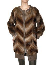 Hotel Particulier | Brown Knit Muskrat Fur Sweater | Lyst