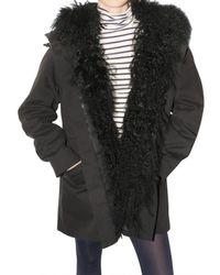 JOSEPH | Black Mongolia Parka Fur Coat | Lyst