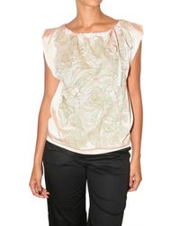 Just In Case | Pink Embroidered Silk Satin Top | Lyst