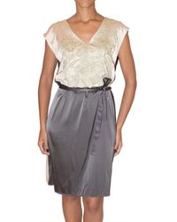 Just In Case | Gray Sequin Embroidered Silk Dress | Lyst