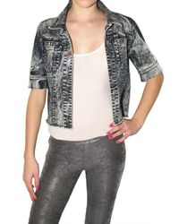 Kova & T | Gray Acid Wash Denim Jacket | Lyst