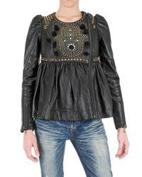 Manoush | Black Studded Leather Jacket | Lyst