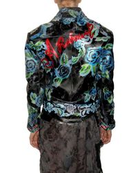 Meadham Kirchhoff - Black Hand Painted Rose Leather Jacket - Lyst