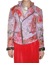 Meadham Kirchhoff | Purple Hant Painted Leather Jacket | Lyst