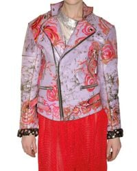 Meadham Kirchhoff - Purple Hant Painted Leather Jacket - Lyst