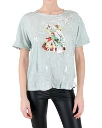 Meadham Kirchhoff | White Hologram Jersey T-shirt | Lyst