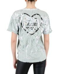 Meadham Kirchhoff | White Hologram Jersey T-shirt | Lyst