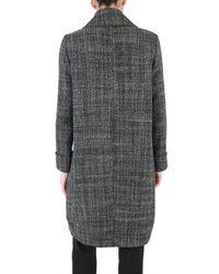 Metradamo - Black Structured Wool Coat - Lyst