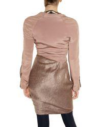 Michael Angel   Pink Silk Crepe and Alpaca Dress   Lyst