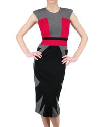 Michael Angel - Multicolor Limit.ed Wool and Silk Charmeuse Dress - Lyst