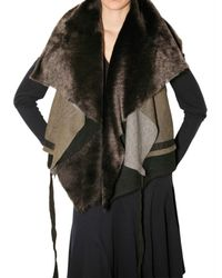 No Editions | Brown Multi Layer Wrap Shearling Vest | Lyst