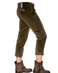 Novemb3r - Green Courdoroy Trousers - Lyst