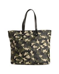 Prada - Green Military Camouflage Canvas Zip Pocket Tote Bag - Lyst