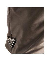 Prada - Gray Smoke Nylon Logo Detail Travel Tote - Lyst
