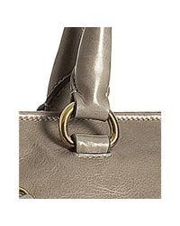 Prada - Brown Pumice Leather Vitello Shine Zipper Handbag - Lyst