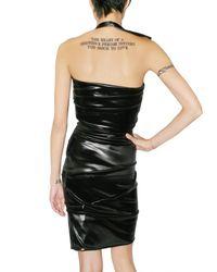 Preen By Thornton Bregazzi - Black Pleated Oil Latex Dress - Lyst
