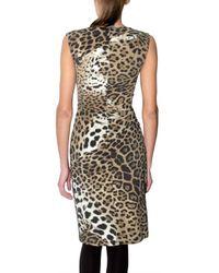 Roberto Cavalli - Multicolor Stretch Lycra Leopard Print Dress - Lyst