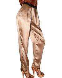 ROKSANDA - Natural Satin Trousers - Lyst