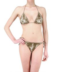 Vicedomini | Brown Sequin Bikini Bathing Suit | Lyst