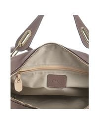 Chloé - Old Pink Pebbled Calfskin Paraty Top Handle Bag - Lyst