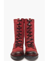 DIESEL   Red Charlotte Boots   Lyst
