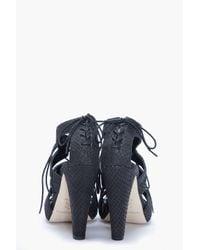 Loeffler Randall - Gray Addison Anaconda Heels - Lyst