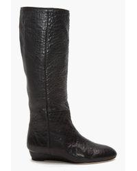Loeffler Randall | Matilde Flat Boots in Black | Lyst