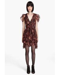 McQ | Purple Bat Sheer Dress | Lyst