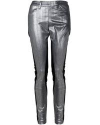 Acne Studios   Metallic Skin Panel Pants   Lyst