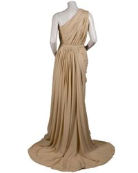Eastland | Natural Drape Shoulder Chiffon Gown | Lyst