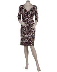 Issa   Multicolor Printed Silk Jersey Dress   Lyst
